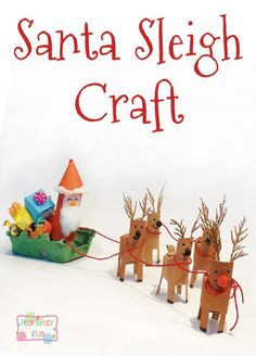 Santa Sleigh Christmas Toilet Paper Roll Craft