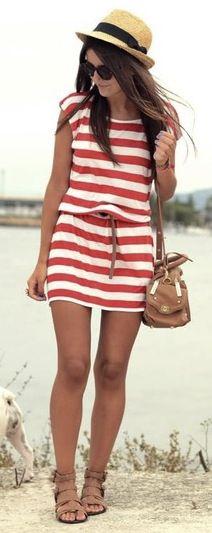 stripes + hat for summer