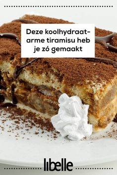 Gezond(er) smullen: deze koolhydraatarme tiramisu heb je zó gemaakt Fodmap Recipes, Keto Recipes, Pie Dessert, Dessert Recipes, Low Carb Desserts, Healthy Sweets, Low Carb Keto, High Tea, Sweet Tooth
