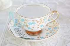 Something borrowed, something blue...... Our tea cup and saucer makes a very special heirloom to enjoy and treasure in your family for generations to come. A perfect gift for the Bride to be, addition to your collection, or the beginning of your love affair for fine tea cups. Royal