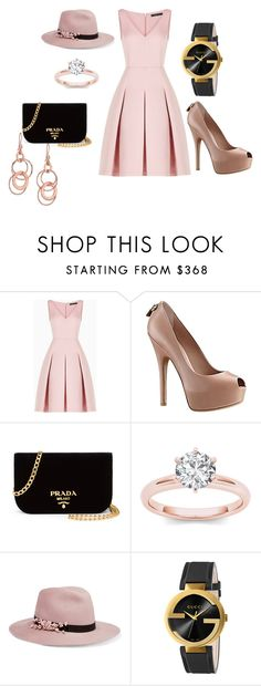 """Night Out - Blush Princess"" by joyavore on Polyvore featuring BCBGMAXAZRIA, Louis Vuitton, Prada, Eugenia Kim, Gucci and Ippolita"