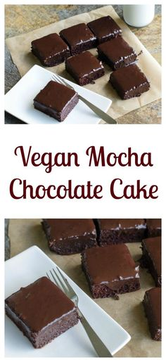 Vegan Mocha Chocolate Cake