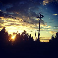 Sunset in Goose Bay