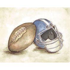vintage football art