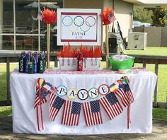 Olympic party ideas + free printables.