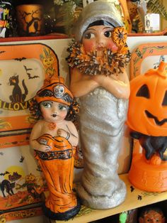 Dressed in Silver Flapper Halloween Doll by hophopjingleboo
