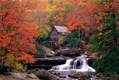 An old grist mill on Glade Creek in West Virginia. I LOVE this...reminds me of Hocus Pocus! #fall foilage