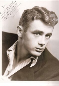 A signed picture of a then 18 year old James Dean