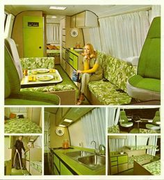 Vintage and fabulously green RV!