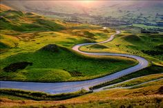 The Road to Edale.    A gorgeous drive through valleys, moors and a 13th century English village. (Photo by Andrew Kearton)