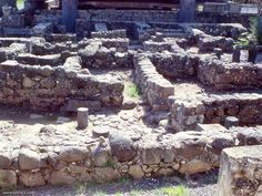 Capernaum, remains of the old City where Jesus lived and walked