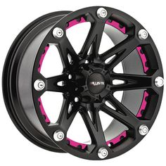 """BB Wheels - Pink Inserts for 20"""" Ballistic Jester Rims *Custom Order Only"""