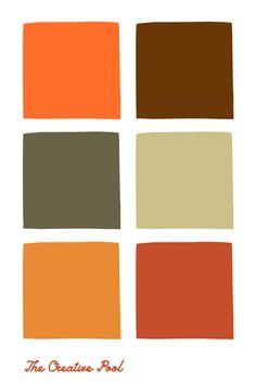 Retro Color Palette, Orange Palette, Orange Color Palettes, Create Color Palette, Green Colour Palette, Fall Color Schemes, Hiking Tent, Pumpkin Colors, Color Harmony