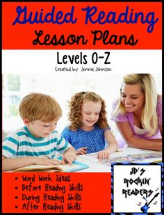 NEW! Guided Reading Lesson Plans Levels (O-Z)