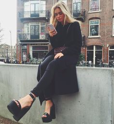 Claartje Rose, Bloggers Style, black on black fw 2015