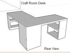 My DIY craft desk design for the craft room.