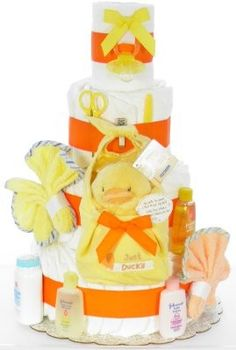 Gender Neutral Ducky Diaper Cake