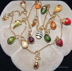 57 long joan rivers enamel egg charms russian inspired extender