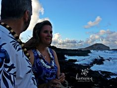 Ceremony I performed at sunset at Makapuu. Look at that backdrop. So beautiful!