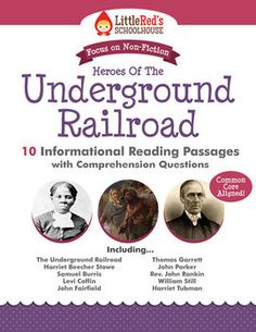 Informational Reading Passages with Questions - Heroes of the Underground Railroad (includes passages on Harriet Tubman, Levi Coffin, William Still and more! 6th Grade Social Studies, Teaching Social Studies, Teaching History, Reading Comprehension Passages, Reading Fluency, Comprehension Strategies, Middle School Reading, 2nd Grade Reading, Civil War Activities