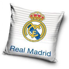 Obliečka na vankúš s motívom Realu Madrid - domtextilu. Soccer Boys, Juventus Logo, Real Madrid, Team Logo, Ebay, Throw Pillows, Sports, Kids, Hs Sports