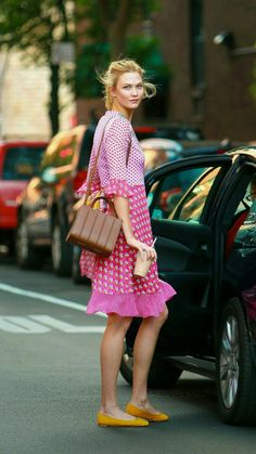 Karlie Kloss spotted out and about in NY on June 15, 2016 . : DVF SS16