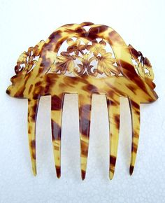 Antique Hair Comb Faux Tortoiseshell Hair by ElrondsEmporium