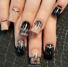32 New Acrylic Nail Designs Ideas to Try This Year - Page 26 of 32 White and gold shiny nails white and glitter are the perfect complement. Don't just trust us, look at it yourself. These silver-white shiny nails are Shiny Nails, My Nails, Prom Nails, Acrylic Nail Designs, Nail Art Designs, Nails Design, Mandala Nails, Black Acrylic Nails, Short Nails Art
