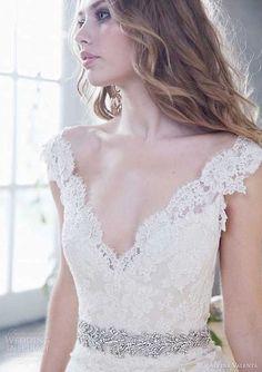 36 Incredibly Sexy Low Cut Wedding Gowns   HappyWedd.com
