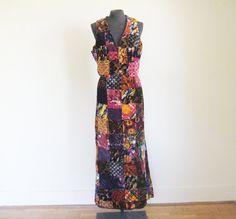 Vintage 70's Skirt and Vest Set by perniejaynevintage on Etsy, $48.00