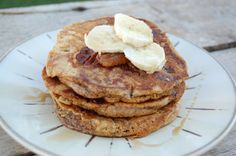 Recipe: Whole-Wheat Banana Pancakes (freeze the leftovers!) ~ http://www.100daysofrealfood.com