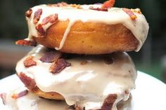 Maple bacon doughnuts - sounds like a heart attack and a half, but interesting