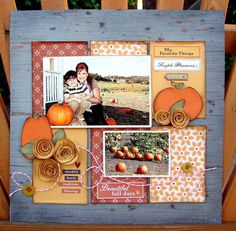 Scrappineve's Gallery: Beautiful Fall day *Oct. hip2bsquare kit*
