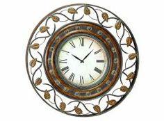 MTL WALL CLOCK Yuvarlak Yapraklı Duvar Saati 36D 91.44cm