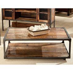 Emerald Home Laramie Rectangular Rustic Brown Reclaimed Wood Coffee Table