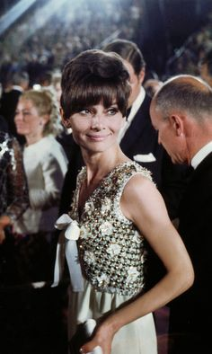 Audrey Hepburn at the 40th Annual Academy Awards on April 10, 1968 at the Santa Monica Civic Auditorium in Santa Monica, California.