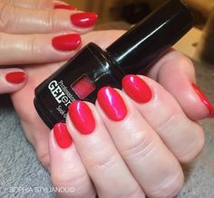 Gorgeous red nails by Sophia Stylianou using Jessica GELeration | www.sophiastylianou.com
