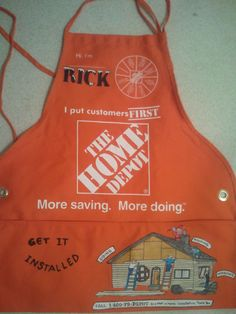 Pics For > Home Depot Apron