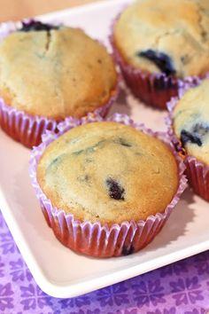 gluten free vegan blueberry muffins makes 12 muffins      1 cup fresh or frozen blueberries*     1 3/4 cups Sarah's gluten free flour bl...