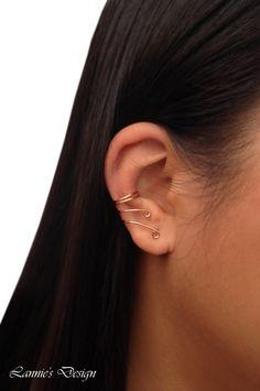 Copper Ear Cuff Cartilage Earring Simple No Piercing