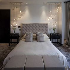 Elegant bedroom Lighting - Stunning Modern Bedroom Lighting Ideas You Will Be Admired Of Master Bedroom Design, Dream Bedroom, Home Bedroom, Bedroom Ideas, Bedroom Designs, Light Bedroom, Bedroom Modern, Master Bedrooms, Bedroom Inspiration