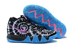 d09125ec3d8 Mens Nike Kyrie 4 All Star Tie Dye Black Sky Blue Purple Basketball Shoes