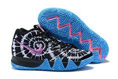 d09125ec3d8 Mens Nike Kyrie 4 All Star Tie Dye Black Sky Blue Purple Basketball Shoes