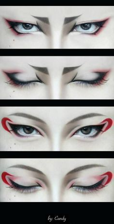 Hoozuki & Hakutaku cosplay - Character make-up << dunno who that is but this reminds me kinda of Karai's make-up from the 2012 series<<< don't know any of these but cool makeup Anime Make-up, Anime Eyes, Anime Eye Makeup, Makeup Lipstick, Anime Hair, Anime Cosplay Makeup, Make Up Art, Eye Make Up, How To Make