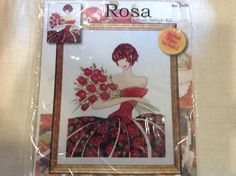 Counted cross stitch kit entitled Rosa by Design