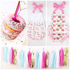 donut party - donut birthday - donut outfit - donuts cake smash - first birthday
