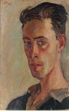 Justin O'Brien (1917-1996) • Self-Portrait, 1941