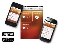 Heatmiser Thermostat Mobile Apps - control hot water and heating from your mobile. £140