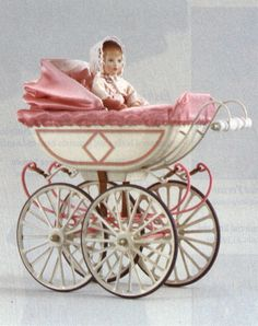 "Marklin Doll Carriage & Kathe Kruse Baby Doll ""Becca"" limited edition set."
