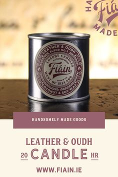 Leather & Oudh has an incredibly addictive scent, loved by so many of our customers (read the reviews). Warm and opulent, with rich oriental notes from across the globe. Reminiscent of incense on hot coals. Oudh wood has it's own unique spicy quality and when coupled with the right amount of leather, elemi & bergamot produces a wonderfully mysterious and intoxicating aroma. Served up in a re-usable apothecary style tin with lever lid.